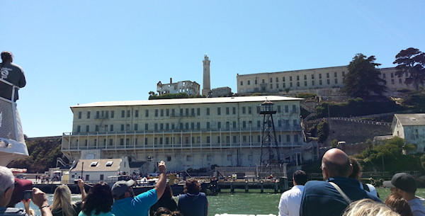 Passing by Alcatraz Island