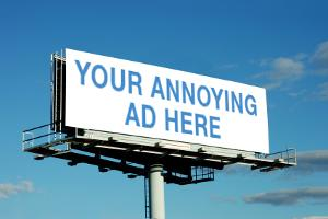 Annoying ad banner